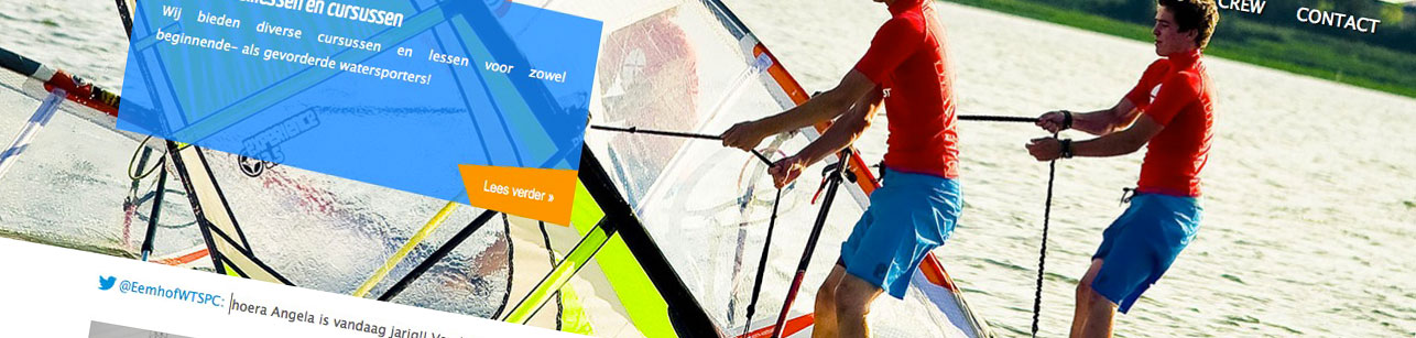Onze website is vernieuwd! | Eemhof Watersport & Beachclub