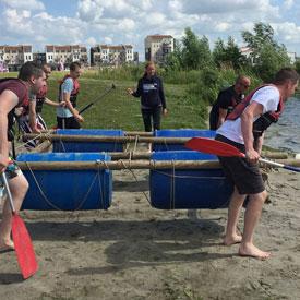 Vlot bouwen | Teambuilding bedrijfsuitje | Eemhof Watersport & Beachclub